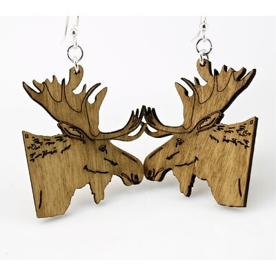 Green Tree Jewelry Moose Earrings