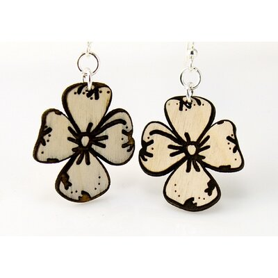 Green Tree Jewelry Dogwood Flowers Earrings