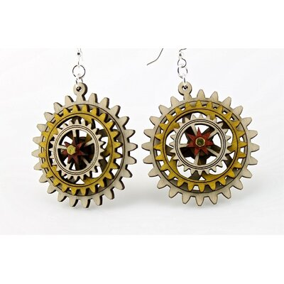 Green Tree Jewelry Kinetic Gear 4 Earrings