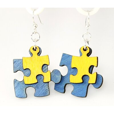Puzzle Piece Drop Earrings