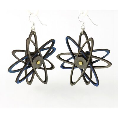 3D Atom Drop Earrings