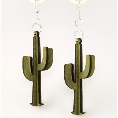 3-D Cactus Earrings