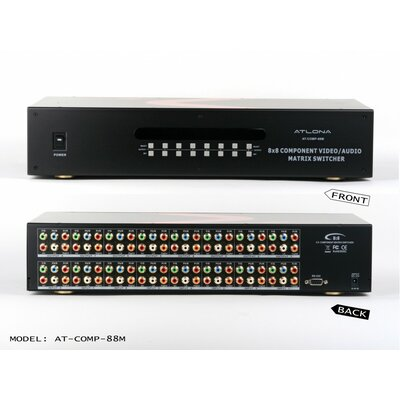 Atlona Professional 8x8 Component Video with Analog and Digital Audio Matrix Switch