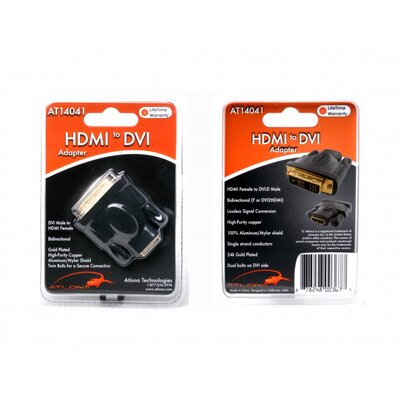 Atlona Home HDMI Female to DVI Male Adapter