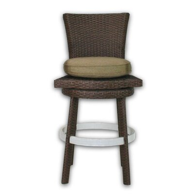 Patio Heaven Signature Swivel Round Barstool