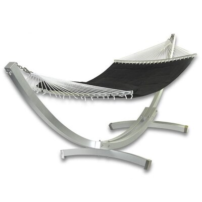 Patio Heaven Deluxe Arc Aluminum Hammock with Stand