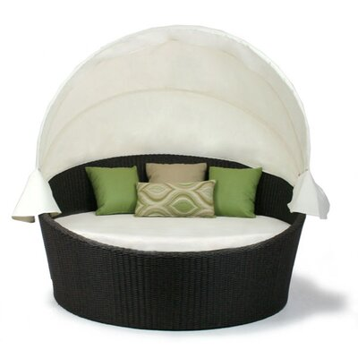 Patio Heaven Skye Round Daybed and Canvas