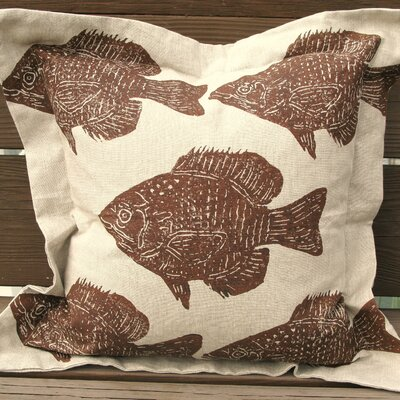 Lowcountry Linens Fish on Pillow