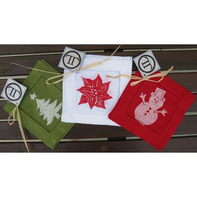 Lowcountry Linens Holiday Assortment Cocktail Napkin (Set of 12)