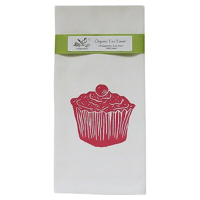 Artgoodies Organic Cupcake Block Print Tea Towel