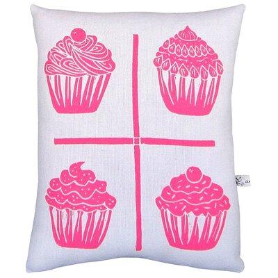 Artgoodies Cupcake Grid Block Print Squillow Accent Pillow