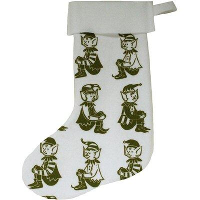 Artgoodies Elf Block Print Stocking