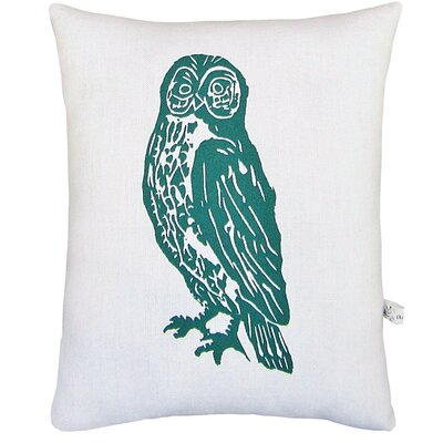 Owl Block Print Squillow Accent Pillow