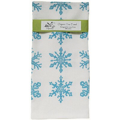 Artgoodies Organic Snowflake All Over Pattern Block Print Tea Towel
