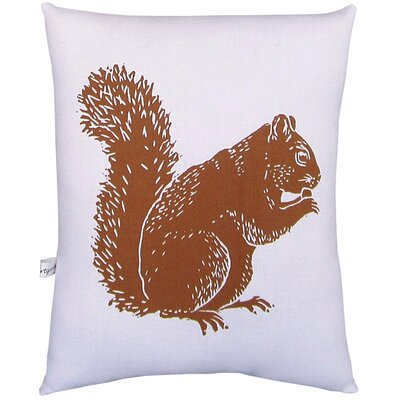 Artgoodies Squirrel Block Print Squillow Accent Pillow