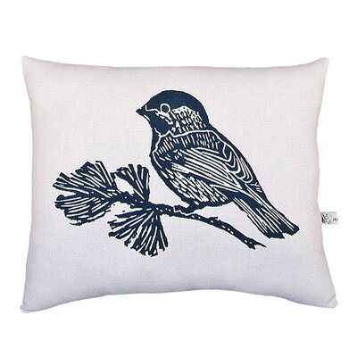 <strong>Artgoodies</strong> Chickadee Block Print Squillow Accent Pillow