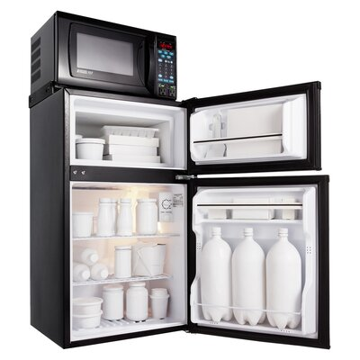 3.6 Cu. Ft Combination Refrigerator and Countertop Microwave