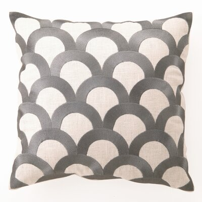 D.L. Rhein Scales Down Filled Embroidered Linen Pillow