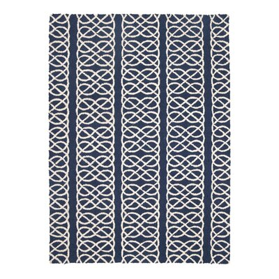 Nautical Knot Navy Hook Rug