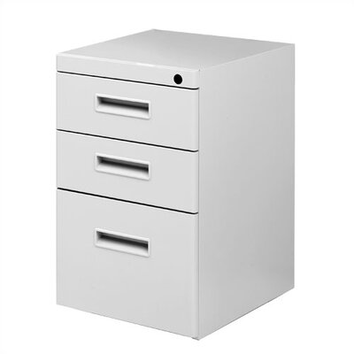 Great Openings Freestanding Pedestal with Two Box Drawers and One File Drawer