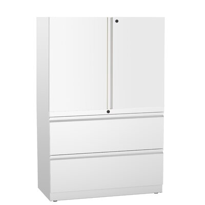 Great Openings Trace 2 Drawer Lateral File with 2-High Storage Cabinet