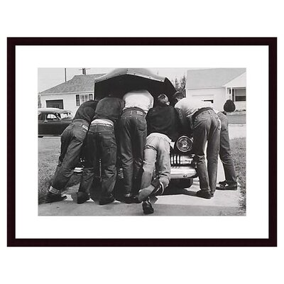 Barewalls Boys with Their First Car, 1957 by A. Owen Wood Framed Art Print