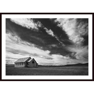 'Small Country Church in Grass Field' by Darren Greenwood Framed Photographic Print