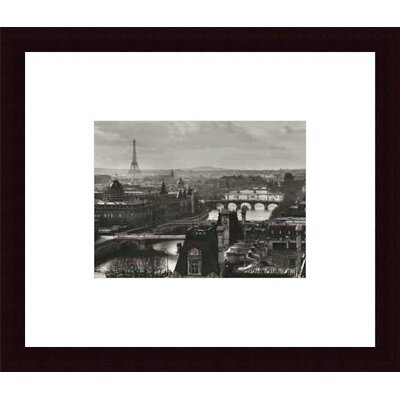 Barewalls River Seine And The City of Paris, Circa 1991 by Peter Turnley  Wood Framed Art Print