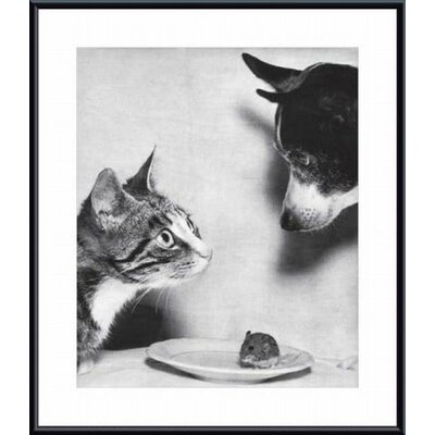 Barewalls Cat, Mouse and Dog, 1955 Metal Framed Art Print