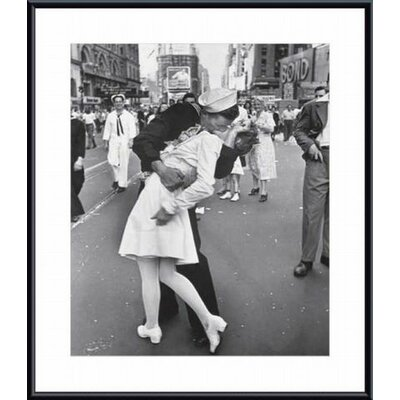Barewalls V-J Day at Times Square, New York City, 1945 Metal Framed Art Print