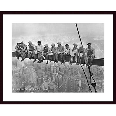 Barewalls Rockefeller Center, 1932 Wood Framed Art Print