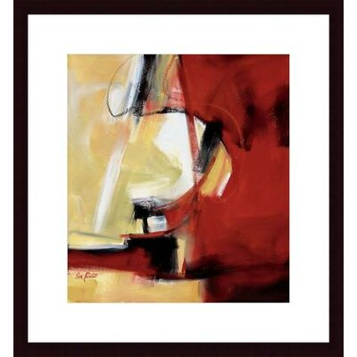 Barewalls Movement in Red Wood Framed Art Print