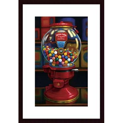 Gumball Machine IV Wood Framed Art Print