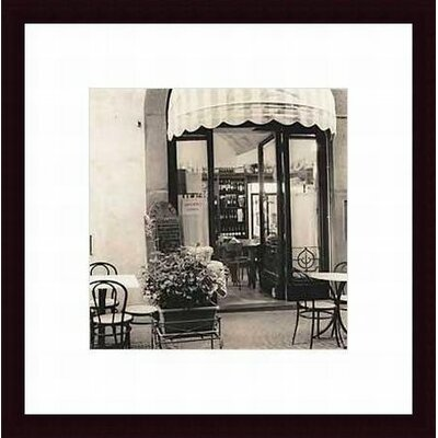 Barewalls Caffe, Umbria Wood Framed Art Print