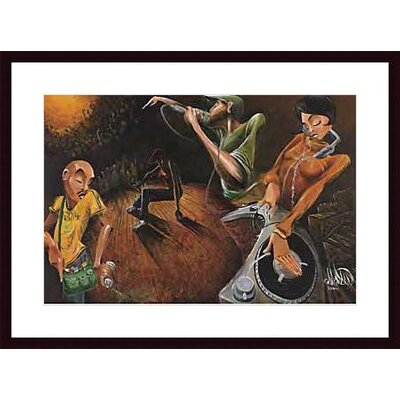 Barewalls The Get Down Wood Framed Art Print