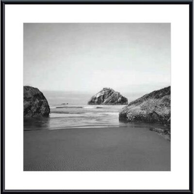 Barewalls Face Rock by Steven Meyers Metal Framed Art Print