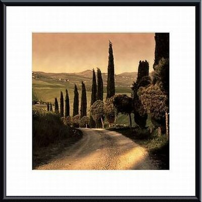 Barewalls Country Lane, Tuscany Metal Framed Art Print