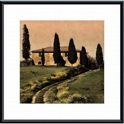 Tuscan Farmhouse Metal Framed Art Print