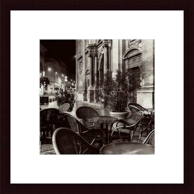 Cafe, Avignon Wood Framed Art Print