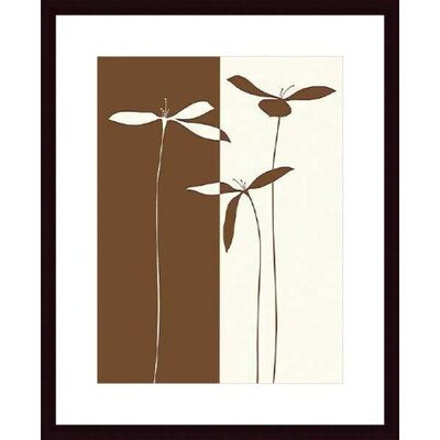 Barewalls Petals I Wood Framed Art Print