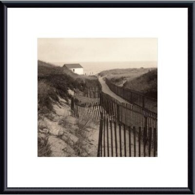 Barewalls Dune Fence Metal Framed Art Print