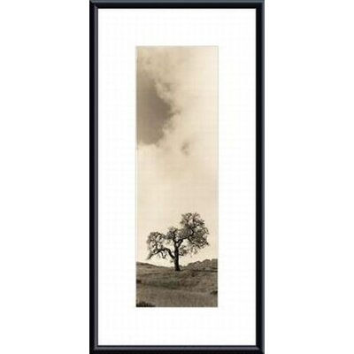Vintage Oak Tree Metal Framed Art Print
