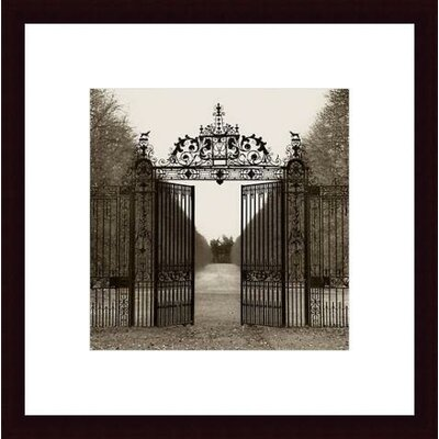 Barewalls Hampton Gate Wood Framed Art Print