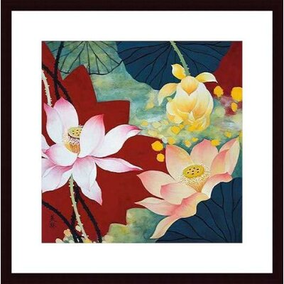 Barewalls Lotus Dream II by Hong Mi Lim Wood Framed Art Print