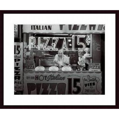 Barewalls Hot Italian Pizza Wood Framed Art Print