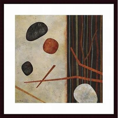 Barewalls Sticks and Stones II Wood Framed Art Print