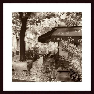 Cafe, Aix-en-Provence Wood Framed Art Print
