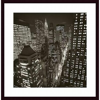 Barewalls East 40th Street Wood Framed Art Print
