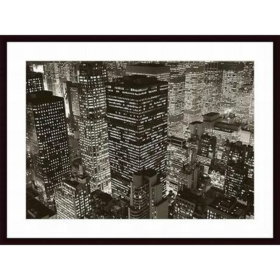 Barewalls Mary Poppins Over Midtown Wood Framed Art Print