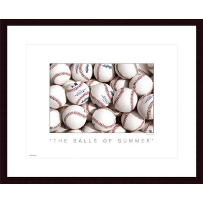 Barewalls The Balls of Summer Wood Framed Art Print